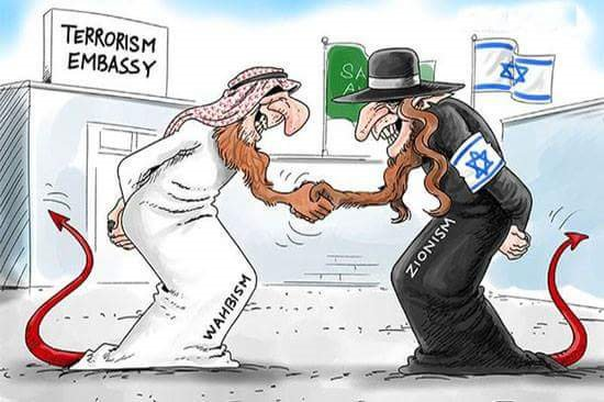 in every bloodbath in the world , we see footprint of #Israel and Saudi Arabia . Zionism and Wahhabism are two side of one coin .  #YemenWarCup<br>http://pic.twitter.com/Xef1QKBbOA