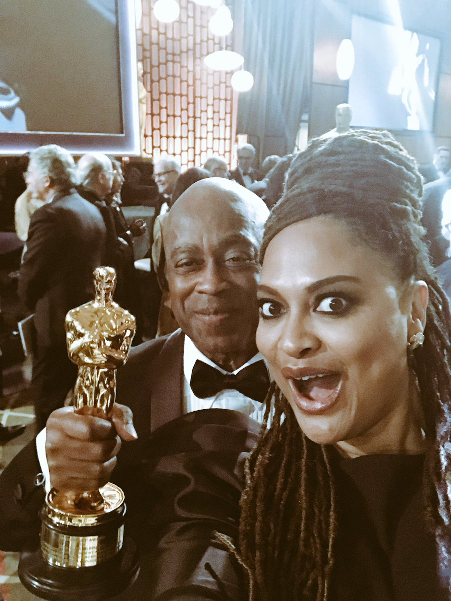 It's #NationalSelfieDay. The Oscars Edition. Burnett. McCraney. Holland. Young. Averick. Nishimura. Monae. Jidenna. Thompson. Saint John. And my family! xo