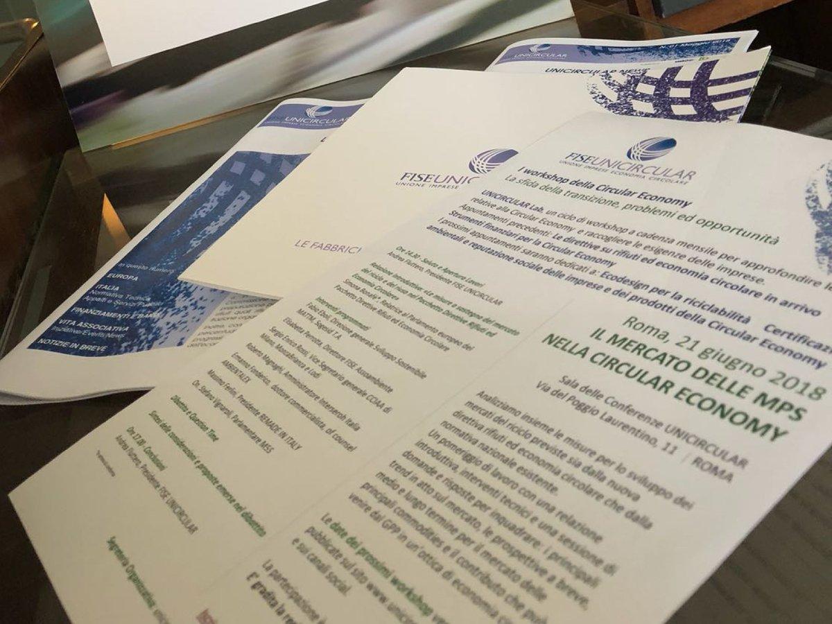 #UnicircularLabNella sede #FISE è in corso il terzo appuntamento dedicato al mercato delle materie prime seconde #MPS nella #circulareconomy.@SVignaroli Vice Presidente Commissione Rifiuti @Montecitorio  Occorre incentivare recupero di materia.  - Ukustom