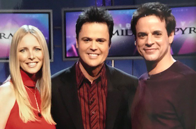 #tbt to the best adrenaline rushes playing speed rounds on game shows. Here we are with the great @donnyosmond on Pyramid. @CJLeBlanc Also loved playing for charity on Wheel & Family Feud.