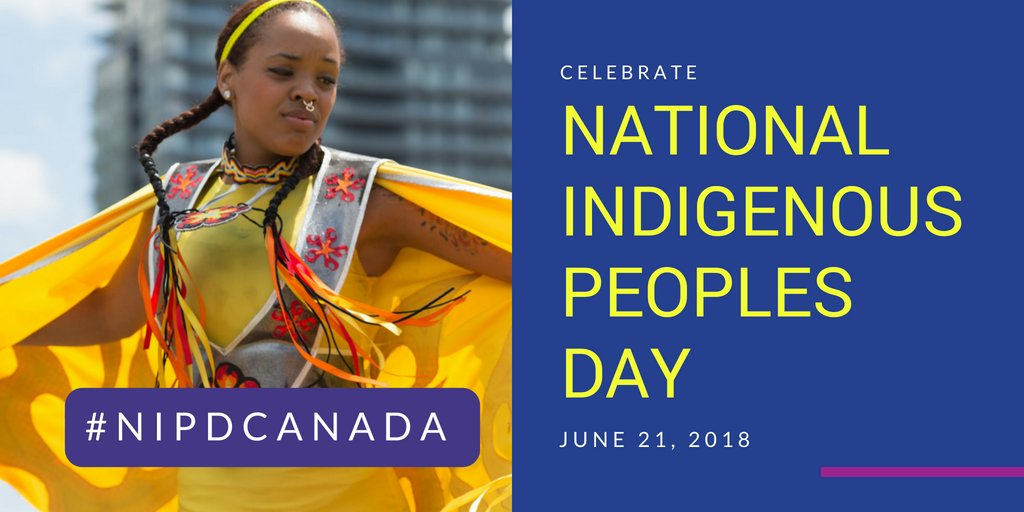 Its National Indigenous Peoples Day! RT to acknowledge and celebrate all Indigenous peoples in Canada! #NIPDCanada