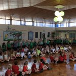 A fantastic assembly celebrating the overall winners of sports day........well done Green Dean!!!!
