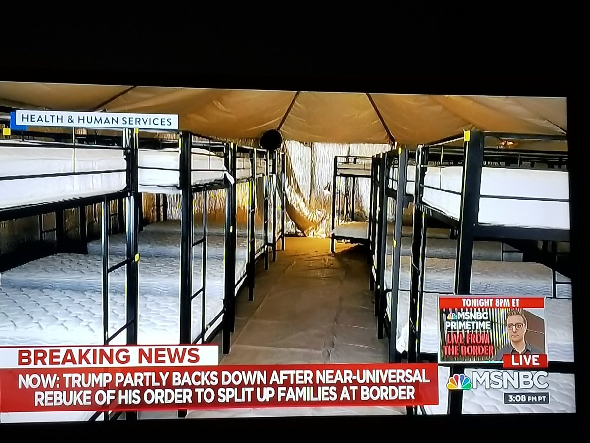 Yes &amp;the next sham and health hazard can be found in these 110 degree desert &quot;air- conditioned&quot; camp tents: 1. Kids in front will freeze. 2. Kids in back barely get air.3. There are no returns to evacuate CO2. 4. Get techs out there to test for Legionnaires. <br>http://pic.twitter.com/mLnQbVTCGU