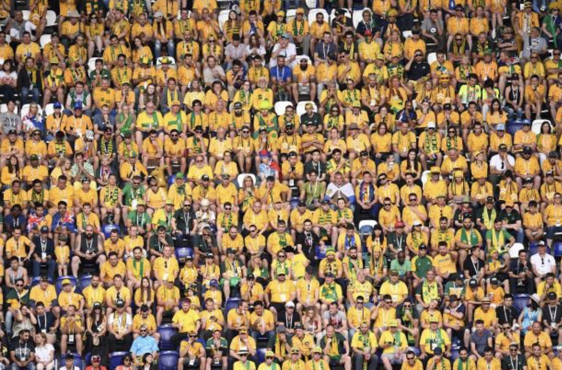How good have the Aussie fans been? Turned-up in droves and absolutely loving it #GoSocceroos https://t.co/KUhZ84RgKo