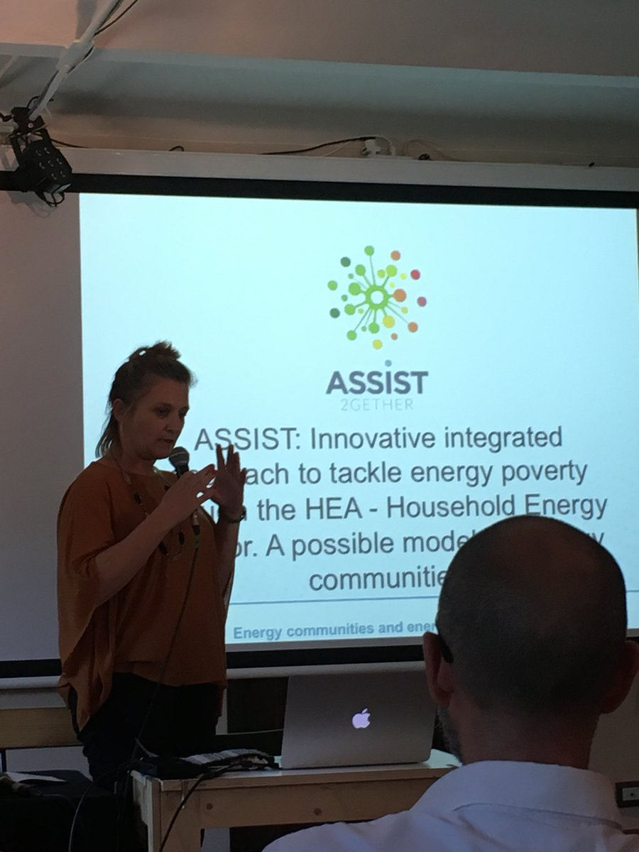 'We need integrated experience and diverse backgrounds to address #energypoverty' says M Varvesi @AISFORSrl @Assist2gether @REScoopEU<br>http://pic.twitter.com/2LWd5C5WzP