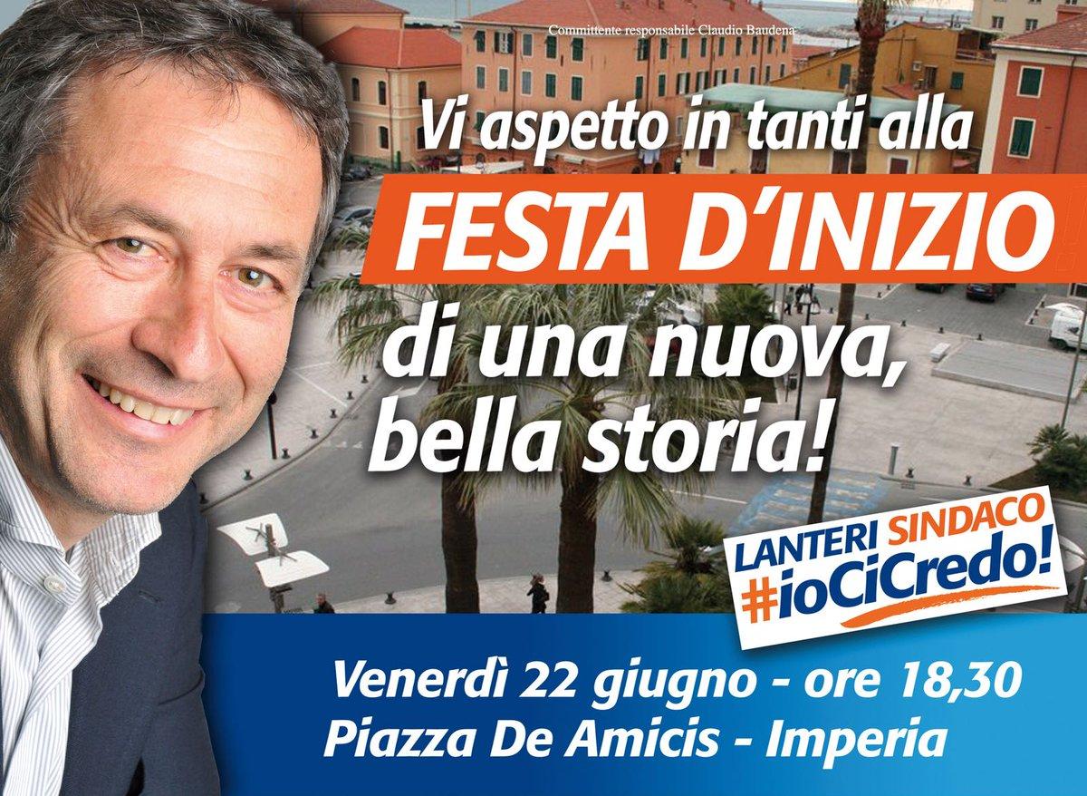 Ci vediamo domani a #Imperia e poi a #Sarzana per sostenere i nostri candidati #LucaLanteri e #CristinaPonzanelli... io ci sarò e voi? #cambiamoinsieme  - Ukustom