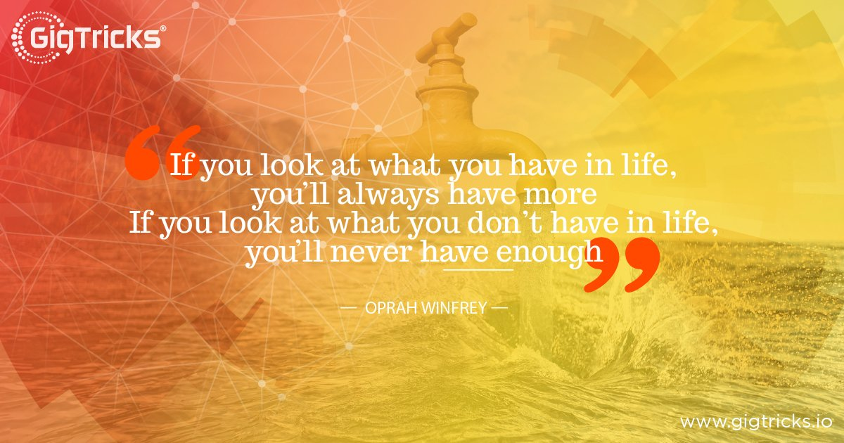 See things with a positive perspective! :) GigTricks Pre-Sale will be LIVE on 1st July 2018! Visit:  https:// buff.ly/2v9IFh7  &nbsp;   #ICO #Blockchain #Crypto #GigBitToken #GigTricksICO #Freelancer #Entrepreneurship<br>http://pic.twitter.com/b69o1qDkvu