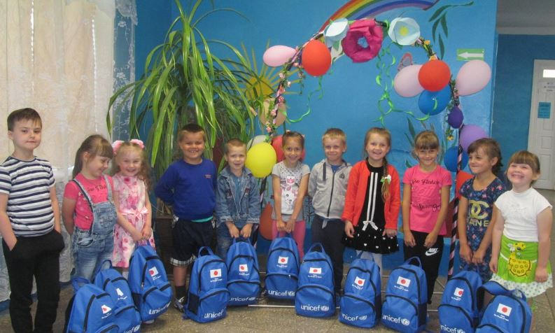 Thanks to support from Gov. of Japan, we have given out education kits including these fab backpacks to 2,198 children living along the contact line in #conflict-affected eastern #Ukraine. #ForEveryChild, #education