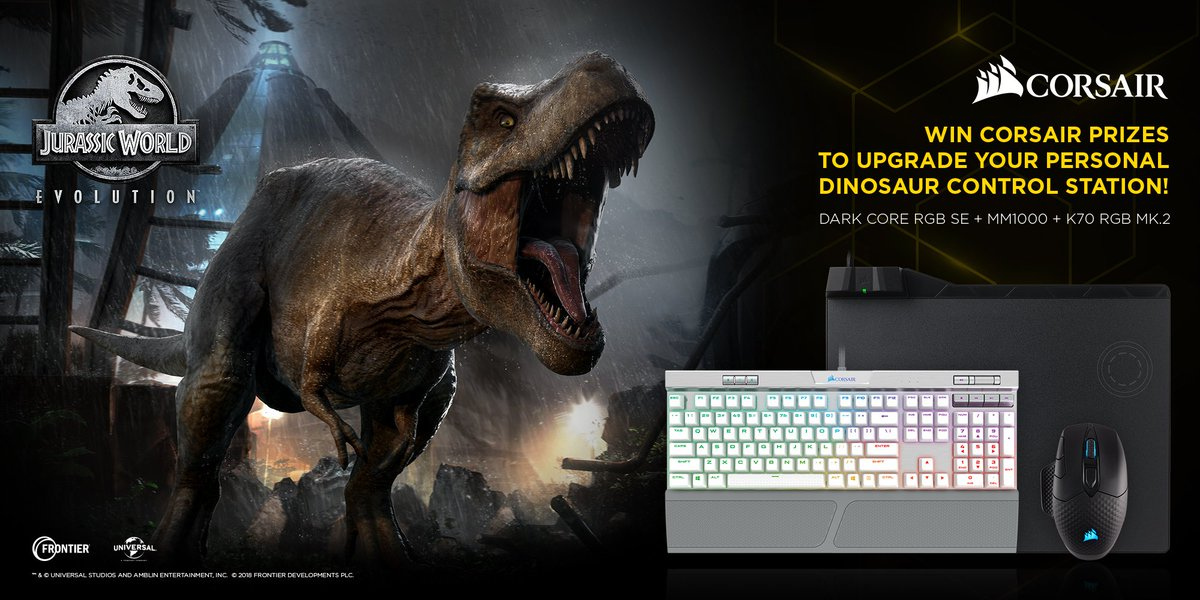 Hold on to your butts, theres a chance you could win this awesome selection of @Corsair goodies! 🖱️⌨️ 🌟To enter, comment with your best 🦕dinosaur joke 🦖and RT! 🌟 (Enter before 5PM BST June 22. Winner will be announced shortly after. Winner will be contacted via DM.)