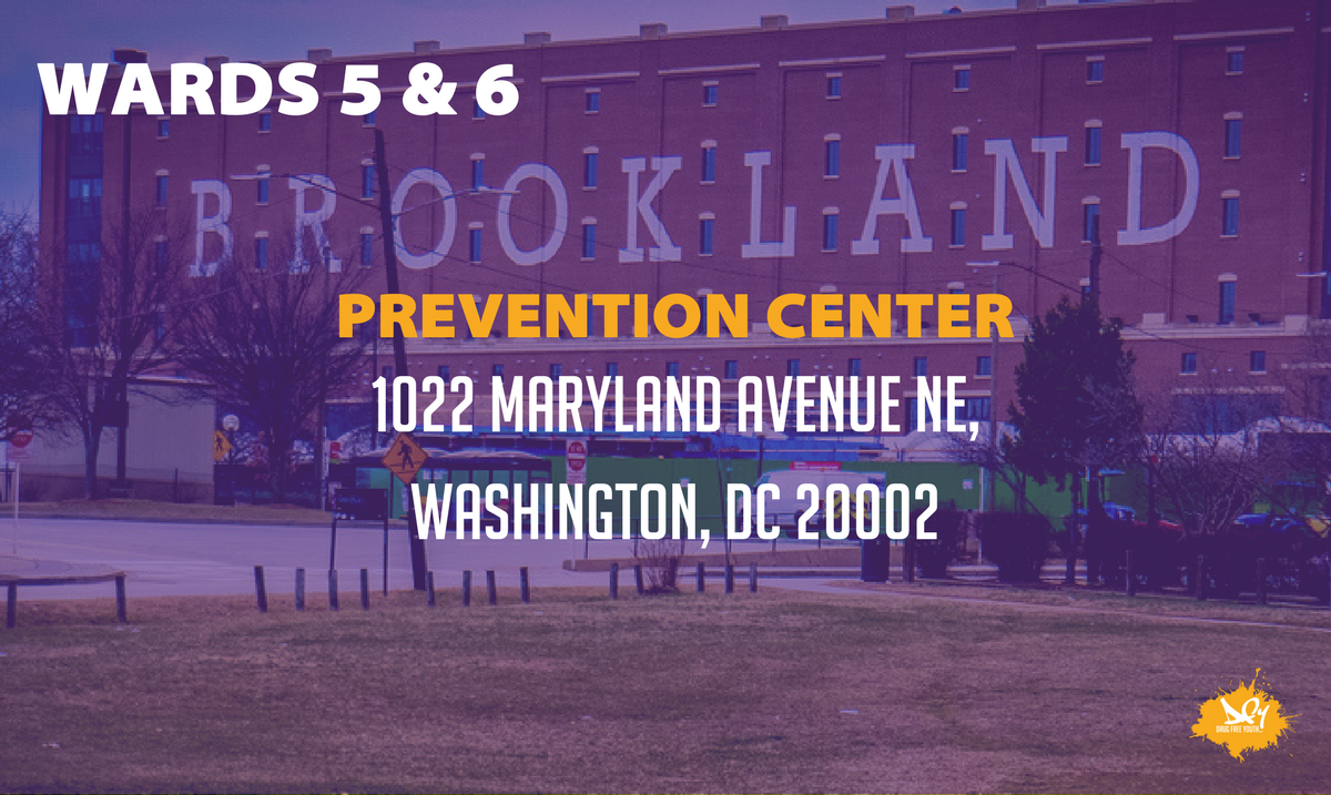 Do you live in Wards 5 or 6? Did you know that there's a prevention center near you for anyone struggling with an addiction? @DCPCWards5and6