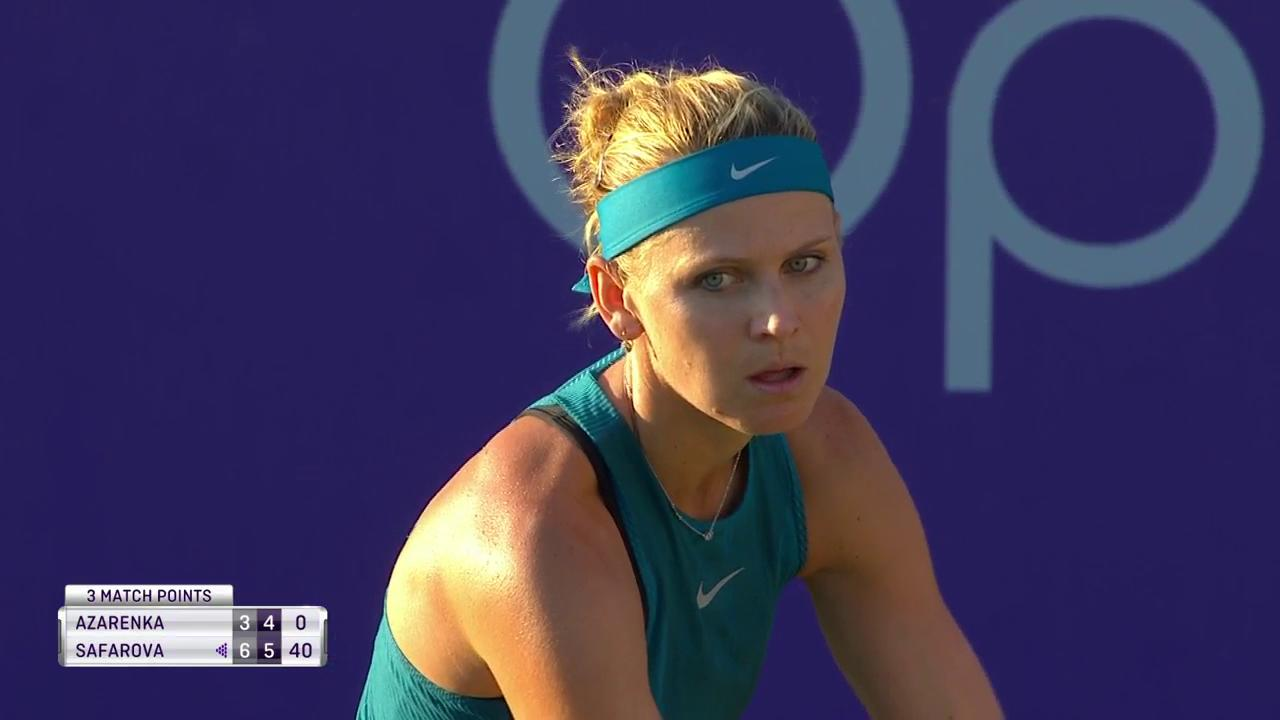 .@luciesafarova books the last spot of the @MallorcaOpen quarterfinals!  Gets the win over Azarenka 6-3, 6-4! https://t.co/8eqGaCVboR