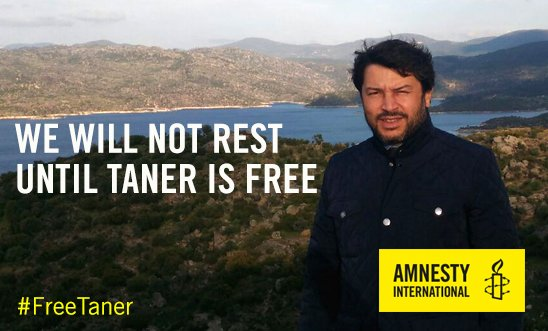 An utter travesty of justice: Taner will remain in prison. Next hearing will be 7 November. #Turkey, be sure of this: We will not rest until Taner is free and the charges against #Istanbul10 are cleared. #FreeTaner
