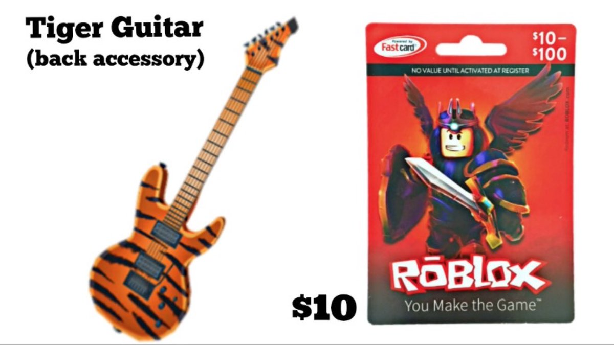 Lily On Twitter I Have An Extra 10 Roblox Gift Card With Guitar