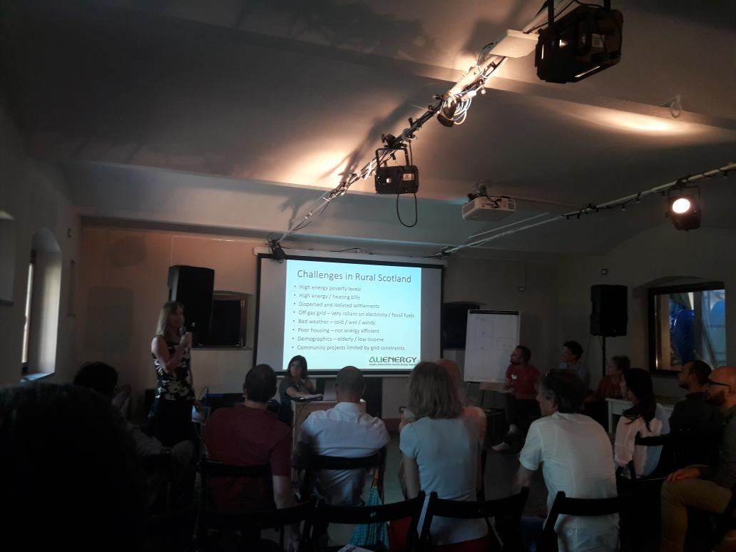 From our #REScoop #AGM in Milan: @ALIenergy13  presents #energypoverty issues in #Scotland as well as #cooperative solutions provided by #communityenergy @enostra @RightToEnergy #energydemocracy #energycommunities<br>http://pic.twitter.com/KjozFG33gu
