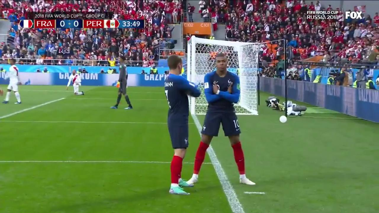What do you do when you become the youngest French goalscorer in FIFA World Cup history?   Shrug on em. ¯\_(ツ)_/¯ https://t.co/ZOb054WNxf