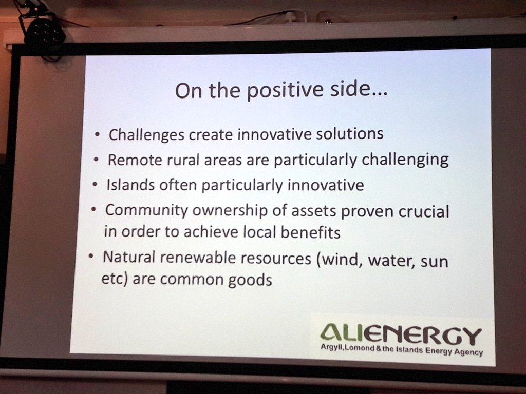 Lynda Mitchell of @AllEnergy talks about #energypoverty in Scottish #islands where 1 out of 3 people is #energypoor. &quot;#communitypower is crucial to use the opportunities of #renewables to benefit the #local citizens and #communities&quot;<br>http://pic.twitter.com/8UapSrwjlB