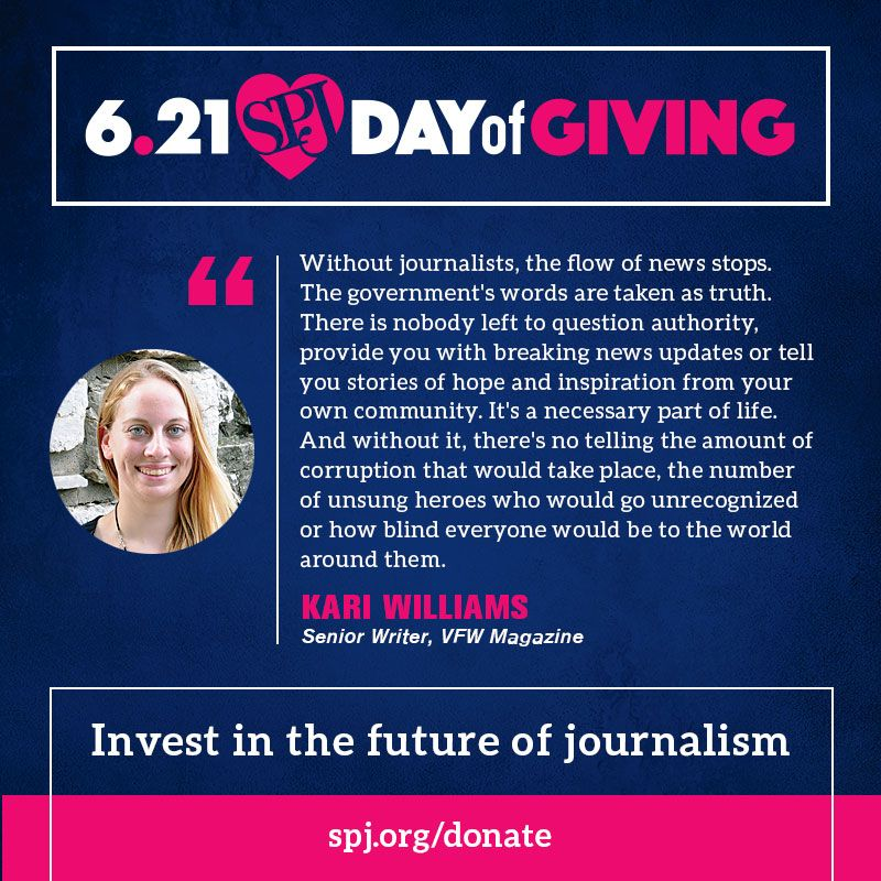 Day of Giving is in full effect! Help us reach our goal and ensure freedom of the press is always protected -- Invest in the future of journalism.  https://t.co/uv9x9jBL7o @Kari_Williams