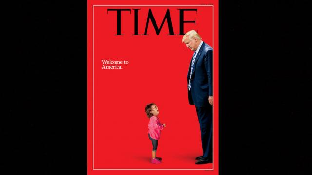Trump stares down crying migrant child on cover of Time magazine: 'Welcome to America' https://t.co/jmmXEJkAbt https://t.co/PWGy02EteZ