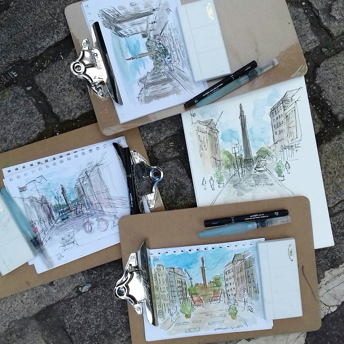 Great drawings from todays sketching on a traffic free George Street. Thanks to all who came and had a go on #cleanairday  I hope to see you all again soon. #myedinburgh #edinsummit #carfreeday #edinburghlife #instaart #urbansketchers #thisisedinburgh @Edinburgh_CC<br>http://pic.twitter.com/1l76BFp7wr