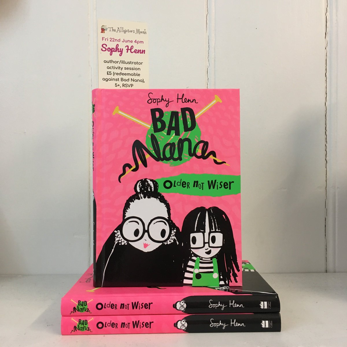 We cant wait for our event with @sophyhenn tomorrow at 4pm - join us for a reading, activity session, cake, and goodie bags to celebrate the fun and vibrant Bad Nana. There are a few spaces left so call 020 8948 6775 or drop by to RSVP immediately. 5+yrs, £5 redeemable.