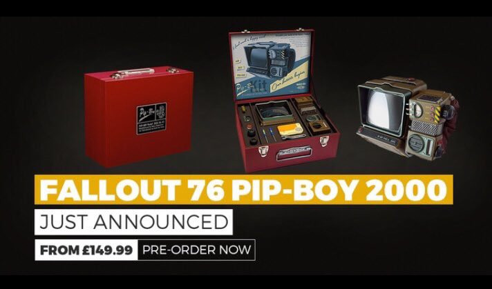 Calling all vault dwellers we have an exciting new preorder announcement the Pip Boy 2000 Kit! Either keep it in its display box or if your a true Fallout survivor assemble the 100+ piece kit to build the most detailed and authentic replica around! #Fallout