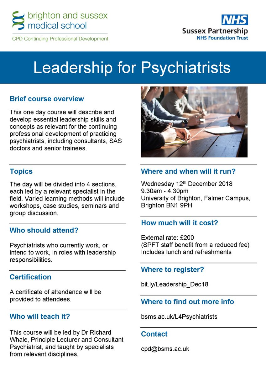 Bsms Cpd On Twitter Lots Of Interest In Our Leadership For