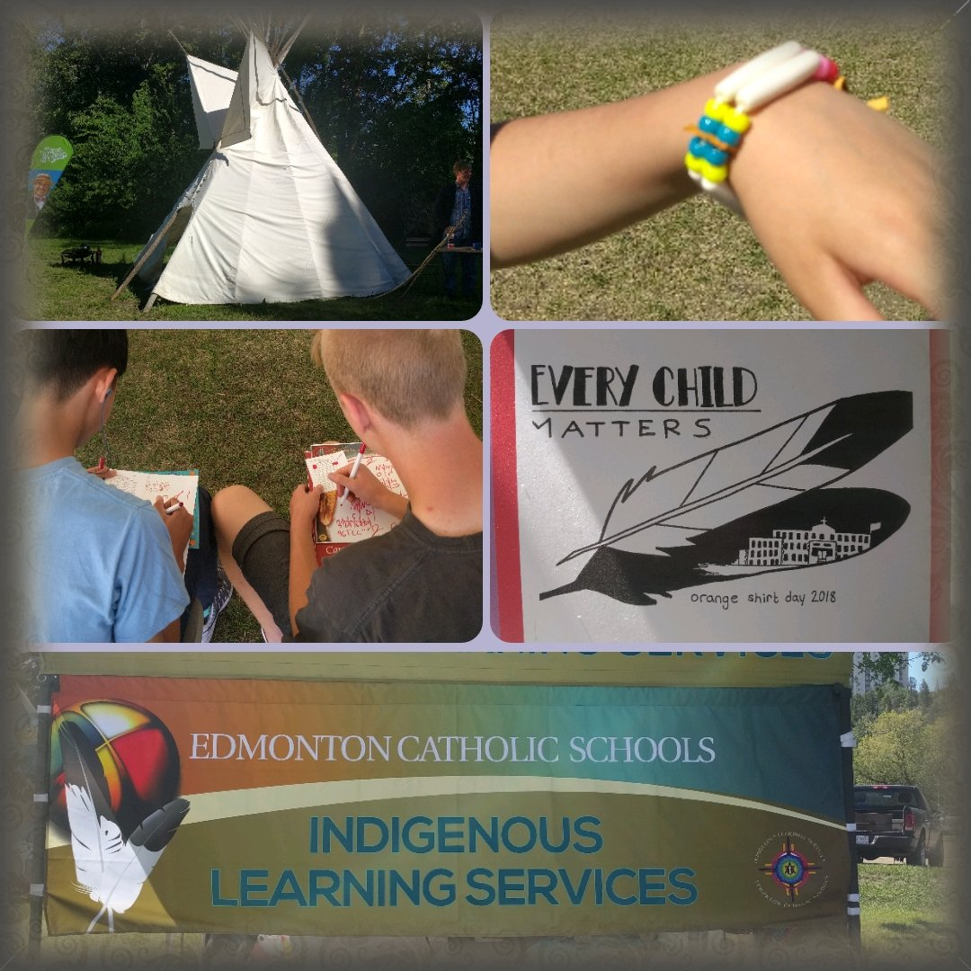 Celebrating Indigenous Peoples Day! Cultural experiences for students, crafts, and beautiful weather make for a great day. #ECSDfaithinspires <br>http://pic.twitter.com/2uIHWWgYOh