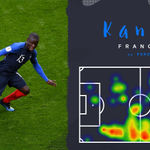 Kante was another colossus in midfield today, crucial in helping #FRA get that clean sheet! 💪  What did you make of @nglkante's performance? #WorldCup