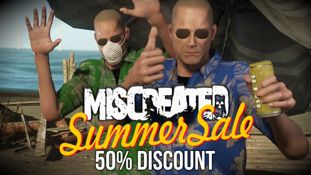 Miscreated is on sale for 50% off during the Steam Summer Sale! Update #60 greatly increased the inventory/storage system in the game.  http:// store.steampowered.com/app/299740  &nbsp;  <br>http://pic.twitter.com/Otj8S2aHIZ