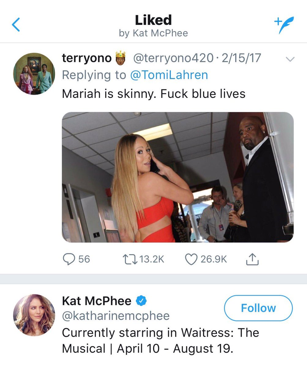 I'm disturbed Kat McPhee is proud of disparaging our law enforcement officers. Pretty sick.