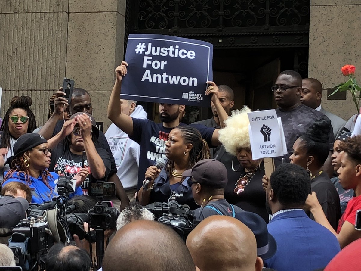 """We get locked up for weed and can't afford the $500 bail. There goes your job, your home, your life. Three months, six months, nine months later, you're still in jail. It's a system. It's designed."" #EndCashBail #BlackLivesMatter  #Justice4Antwon #JusticeForAntwon<br>http://pic.twitter.com/z7BJyuhyMp"