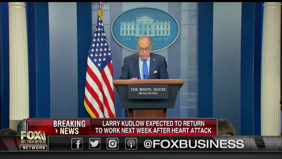 Larry Kudlow expected to return to work after heart attack  https:// fxn.ws/2IbGf2L  &nbsp;  <br>http://pic.twitter.com/C2W7US6SBn