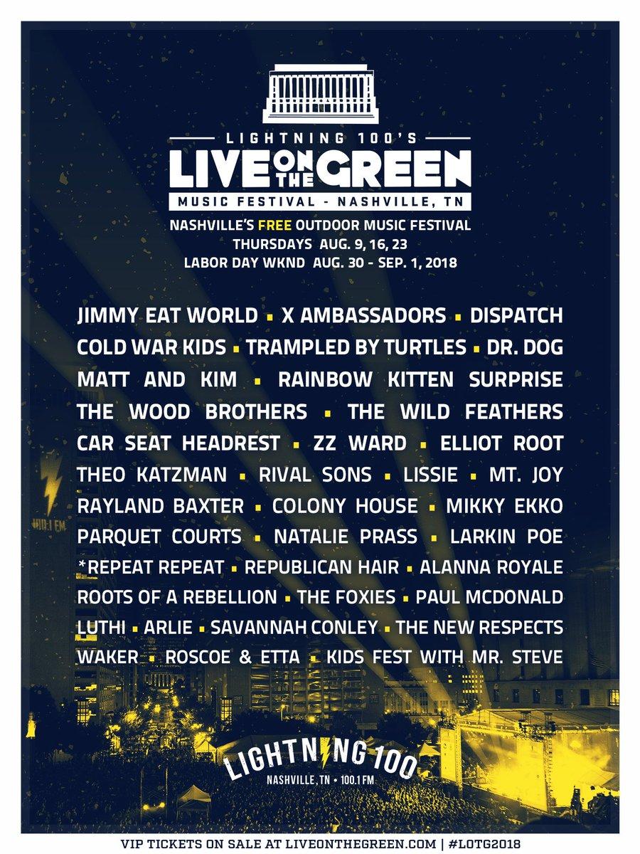 Live On The Green On Twitter Lets Do This Nashville Full