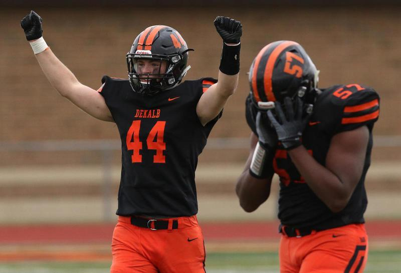 "daily chronicle on twitter: ""prep football: dekalb's keegan smith"