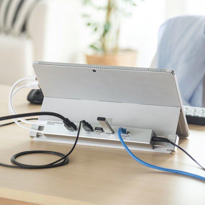 そこにくっつけるの!? SurfaceでHDMI、LAN、USB3.1 Gen1を拡張する多機能ハブ #周辺機器グッズ #マイクロソフト #マイクロソフト製品 https://t.co/hXMViXJtaL