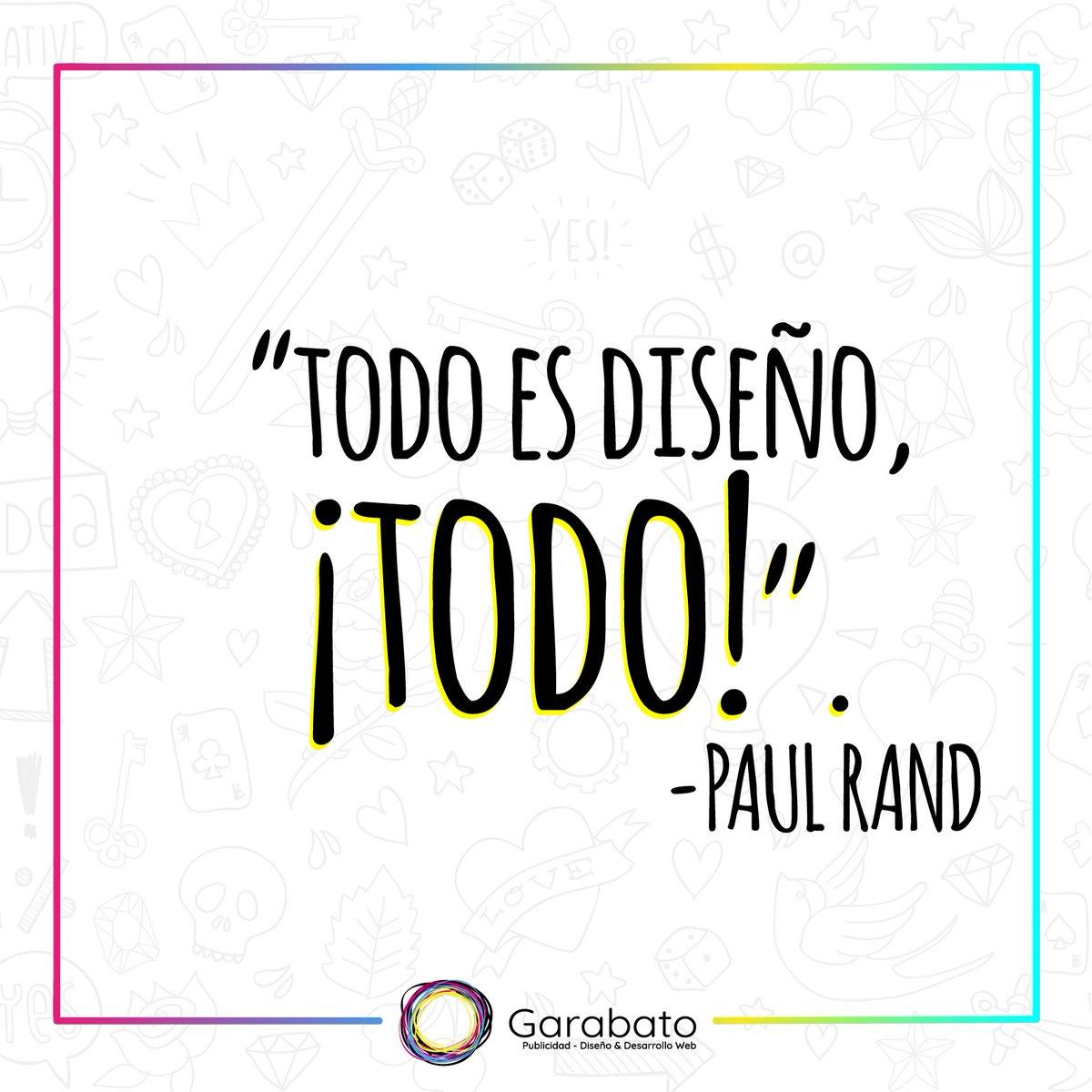 Garabato A Twitter Paul Rand Diseñador Gráfico Reconocido