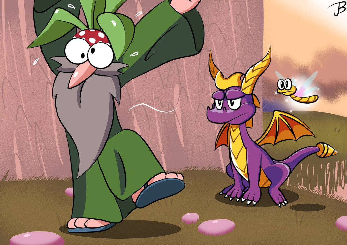 Underneath the magic trickster is a simple coward. #SpyrotheDragon