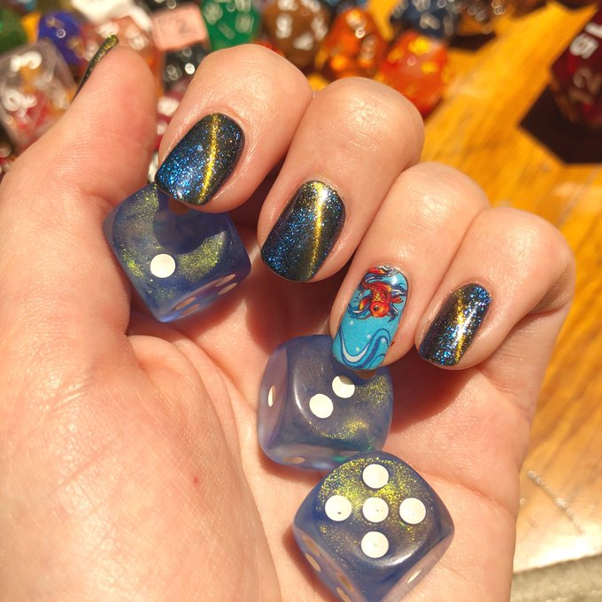 """I call these my """"We're basically Gods."""" nails. #CriticalRole Photo"""