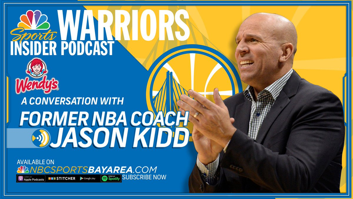On the latest episode of The Warriors Insider Podcast, @MontePooleNBCS is joined by the soon-to-be Hall of Famer, Jason Kidd Listen here: bit.ly/2kQWSY3