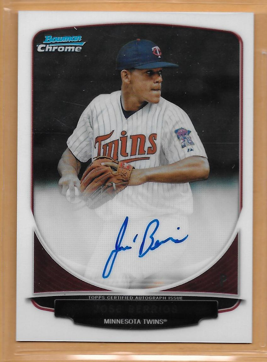 TRADE SPORTS STARS LIKE STOCKS!  ** JOSE BERRIOS ** #Twins 2013 #BowmanChrome AUTOgraphed #RookieCard  We BUY @$20 ↑2 We SELL@$33 ↓2 Best eBay BIN Price $35 #PitBeatsEbay   https:// thepit.com/card/BERR-13-C PA-U0 &nbsp; … <br>http://pic.twitter.com/69yQb4HFsS