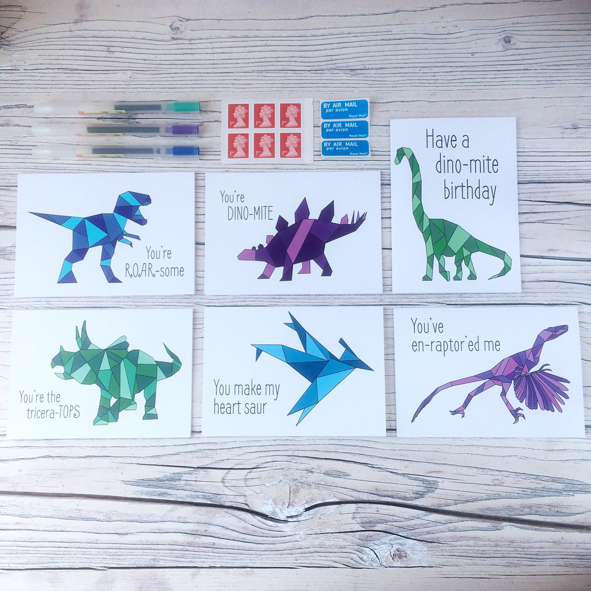 I've got 6 dino-tastic card designs in store with more on their way! They're great for all occasions and I do a mix and match offer on them too! Which are your favourites?  http:// bit.ly/mixandmatchcar ds &nbsp; …  #justacard #craftbuzz<br>http://pic.twitter.com/ovXVYzSh9w