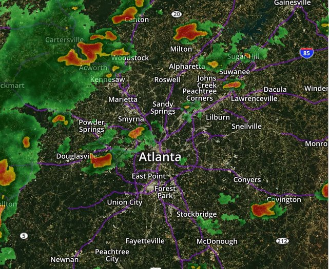 Atlanta Map Traffic.Wsb Radio On Twitter Green Great On Our Atltraffic Map In The