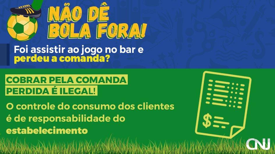 Se o bar ou restaurante estipular uma multa para a perda da comanda, fique atento: essa prática é ilegal! Confira o texto da lei: https://t.co/rP3v6FpFU6 #CopadoMundo
