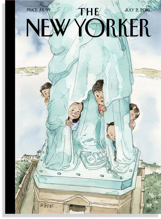 The cover of next week's @NewYorker, 'Yearning to Breathe Free,' by Barry Blitt. https://t.co/kZbZgeqvbN