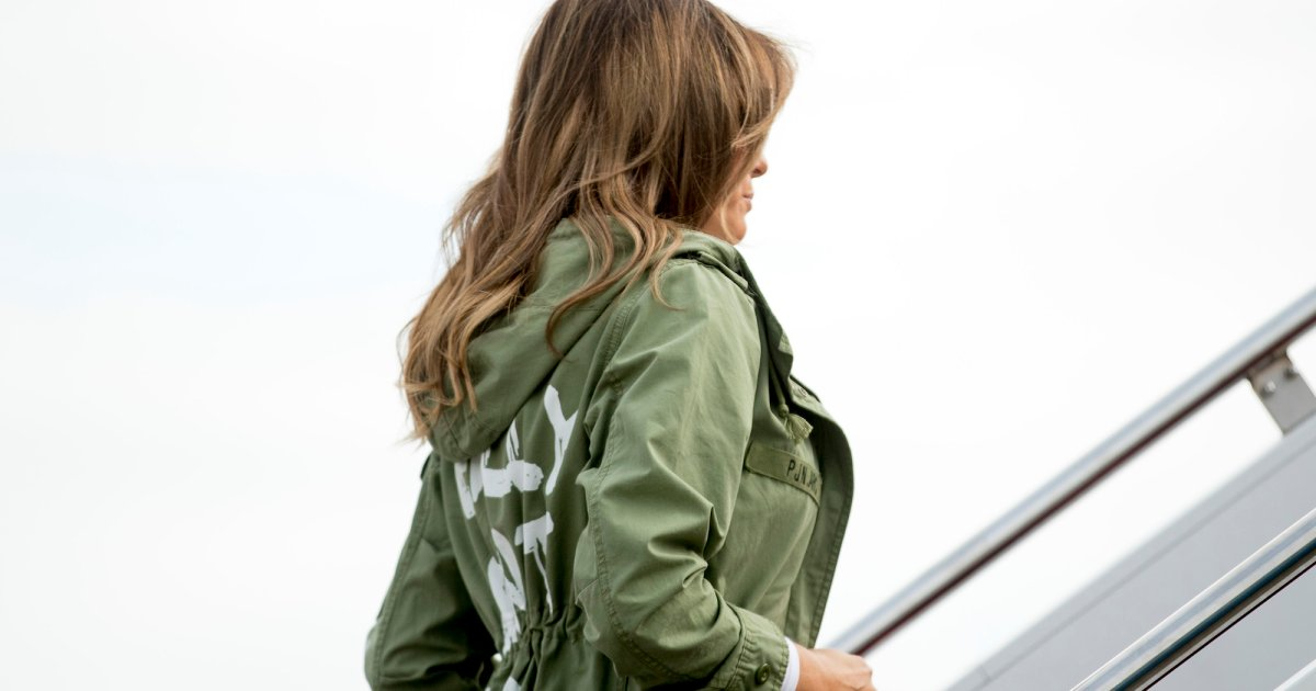 What the hell was Melania Trump thinking when she wore this Zara jacket? https://t.co/bLm93JEQT2 https://t.co/agpBnMWc1T