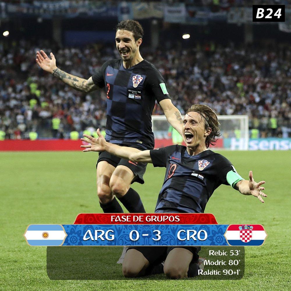 Croácia apura-se para os 'oitavos' em grande estilo e deixa a Argentina em maus lençóis �� #WorldCup https://t.co/xlVTMvynqZ