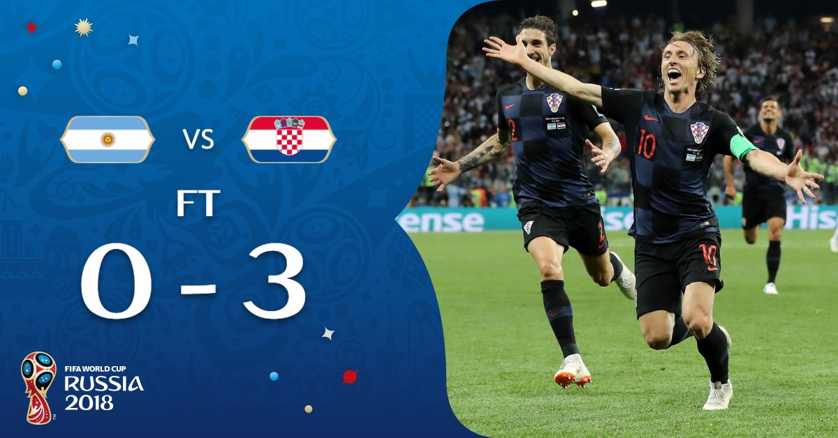 Simply incredible from #CRO as they seal their place in the knock-out stages with a historic victory! Take a bow, @HNS_CFF 👏👏👏 #ARGCRO