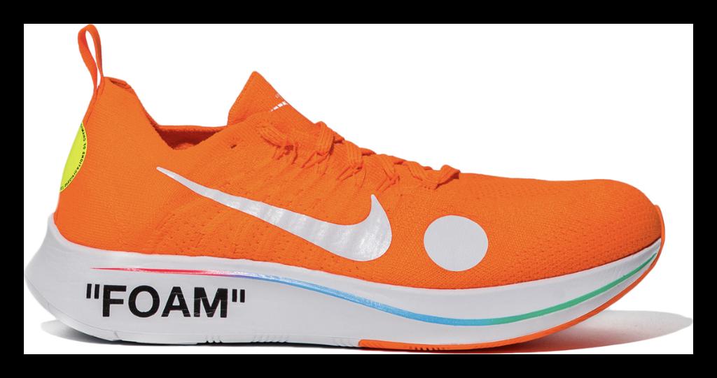 683d3942 Off-White x Nike Zoom Fly Mercurial: Black: https://stockx.com/nike-zoom-fly-mercurial-off-white-black  … Orange: ...