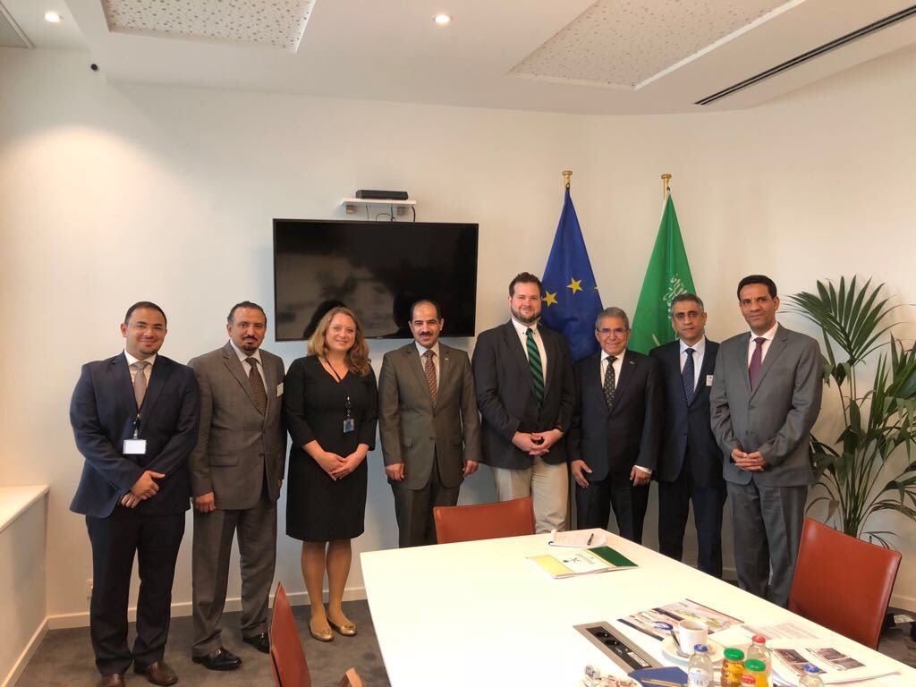 Arab Coalition spokesman Col. Turki Al-Malki & EHOC representatives met today w/ H.E Anders Vistisen & H.E Geoffrey Van Orden members of the ECR group & the Foreign affairs committee, exchanges focused on the latest developments in Yemen & the continued humanitarian operations.