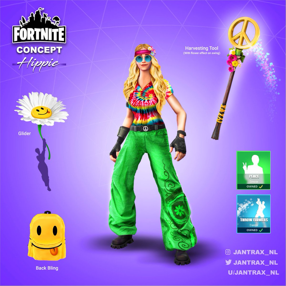 jantrax on twitter a hippie skin idea that i created for fortnite looks innocent but beware. Black Bedroom Furniture Sets. Home Design Ideas